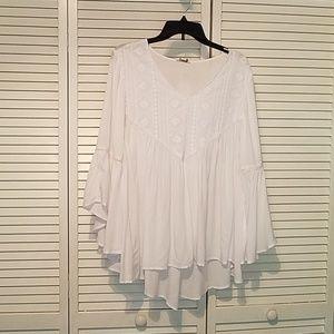Women's white blouse